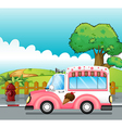 An icecream truck vector image vector image