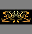 art nouveau decorative element vector image vector image