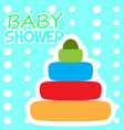 baby shower card with a toy vector image