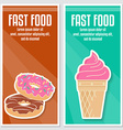 banners fast food design vector image vector image