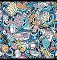 bathroom hand drawn cartoon doodles seamless vector image