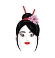 beautiful geisha japan character vector image vector image