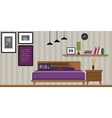 bedroom interior house furniture homr vector image