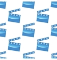Blue clapperboard pattern vector image vector image