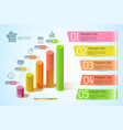 business charts infographic concept vector image