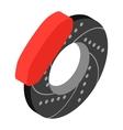 Car wheel repair isometric 3d icon vector image vector image