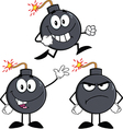 Cartoon bomb design vector image vector image