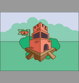 castle of a cartoon old fortress vector image