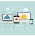 Cloud Computing Concept on Different Electronic vector image
