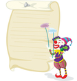 Clown and paper vector image