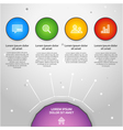 colorful info graphic elemen vector image vector image