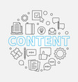 content round outline creative vector image
