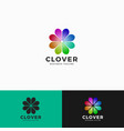 cover - heart flower logo template vector image