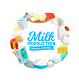 dairy products icon farm milk cheese eggs vector image