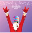 dj rock n roll santa claus with smoking vector image