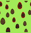 doodle easter eggs chaotic seamless pattern vector image vector image