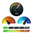 Download speedometers set vector image vector image