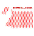 equatorial guinea map - mosaic of lovely hearts vector image vector image