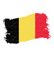 flag of belgium grunge abstract brush stroke vector image vector image