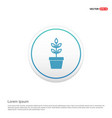 flower pot icon hexa white background icon vector image