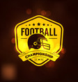football championship logo sport vector image vector image