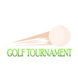 golf tournament label vector image