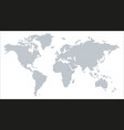 grey world map radial dot pattern style vector image
