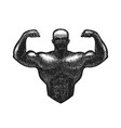 gym bodybuilding logo or label strong man vector image