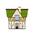 Half timbered house in Germany icon flat style vector image