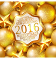 Happy New Year background 2016 vector image