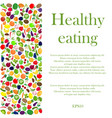 healthy eating background vector image vector image