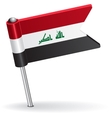 Iraqi pin icon flag vector image vector image