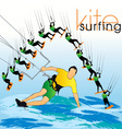 kite surf set vector image