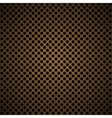 light brown metal background with round hole and vector image vector image