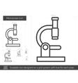 Microscope line icon vector image vector image