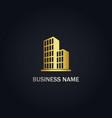 modern building business gold logo vector image vector image