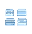 Network router icon set vector image vector image