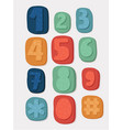 numbers button phone vector image