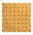 nut biscuit icon flat style vector image vector image