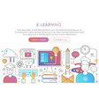 online internet education in trendy flat gradient vector image