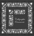 ornamental corner borders and frames on chalkboard vector image