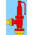 Overload relief valve vector image