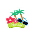 paradise summer vacation vector image vector image