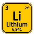 Periodic table element lithium icon vector image vector image