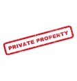 Private Property Rubber Stamp vector image vector image
