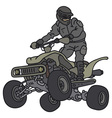 Rider on the ATV vector image vector image