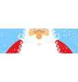 santa claus and snow portrait of grandfather vector image vector image