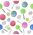 seamless background of multi-colored lollipops vector image vector image