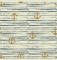 seamless pattern of anchor and stripes vector image vector image