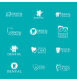 Set of logos dental care clinic dentistry for kids vector image
